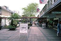 Rotterdam: Lijnbaan Pedestrian Zone. Photo '87.