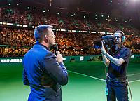 Rotterdam, The Netherlands, 18 Februari, 2018, ABNAMRO World Tennis Tournament, Ahoy,  Edward van Cuilenborg announces <br /> <br /> Photo: www.tennisimages.com