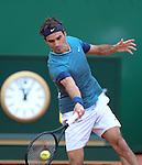 Roger Federer (SUI) defeats Radek Stepanek (CZE) 6-1, 6-2 at the Monte Carlo Rolex Masters tournament in Monte Carlo, Monaco on April 17, 2014.