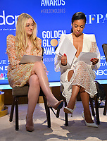 LOS ANGELES, USA. December 09, 2019: Dakota Fanning & Susan Kelechi Watson at the nominations announcement for the 77th Golden Globe Awards at the Beverly Hilton Hotel.<br /> Picture: Paul Smith/Featureflash