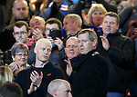 Dave King takes his seat to a round of applause