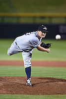 Peoria Javelinas pitcher Colton Reavis (43) during an Arizona Fall League game against the Mesa Solar Sox on October 16, 2014 at Cubs Park in Mesa, Arizona.  Mesa defeated Peoria 6-2.  (Mike Janes/Four Seam Images)