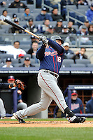 Apr 07, 2011; Bronx, NY, USA; Minnesota Twins outfielder Jason Kubel (16) during game against the New York Yankees at Yankee Stadium. Yankees defeated the Twins 4-3. Mandatory Credit: Tomasso De Rosa/ Four Seam Images