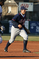 April 11, 2005:  Third Baseman Jay Caligiuri of the Binghamton Mets during a game at Jerry Uht Park in Erie, PA.  Binghamton is the Eastern League Double-A affiliate of the New York Mets.  Photo by:  Mike Janes/Four Seam Images