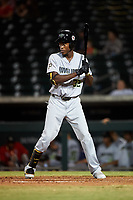 Peoria Javelinas Oneil Cruz (32), of the Pittsburgh Pirates organization, at bat during an Arizona Fall League game against the Mesa Solar Sox on September 21, 2019 at Sloan Park in Mesa, Arizona. Mesa defeated Peoria 4-1. (Zachary Lucy/Four Seam Images)