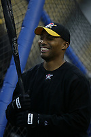 Kevin Young of the Pittsburgh Pirates during a 2003 season MLB game at Dodger Stadium in Los Angeles, California. (Larry Goren/Four Seam Images)
