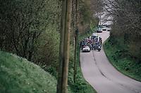 neutralised race start<br /> <br /> 35th Tro Bro Leon 2018<br /> 1 Day Race: Le Carpont - Lannilis (FRA/203km)