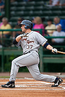 Brandon Douglas of the Lakeland Flying Tigers during the game against the Daytona Cubs June 16 2010 at Jackie Robinson Ballpark in Daytona Beach, Florida.  Photo By Scott Jontes/Four Seam Images