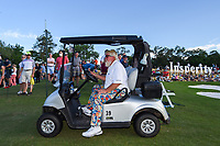 May 2nd 2021; The Woodlands, Texas, USA;  John Daly departs the green on 18 after a double bogey during final round  of the 2021 Insperity Invitational at The Woodlands Country Club on May 2, 2021 in The Woodlands, Texas.