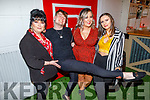 Rebekka Wall, Terseus O'Brien, Maura O'Connor and Triona Casey attending the 'Paris is Burning' Drag Show in Benners Hotel on Saturday.