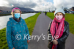 Enjoying a stroll in Blennerville on Tuesday, l to r: Mary Brosnan and Patricia Sharpe.