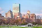 Back Bay skyline from Boston Common, Boston, MA