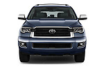 Car photography straight front view of a 2018 Toyota Sequoia Limited Auto 5 Door SUV