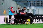 Fussball - 3.Bundesliga - Saison 2020/21<br /> Kaiserslautern -  Fritz-Walter-Stadion 07.04.2021<br /> 1. FC Kaiserslautern (fck)  - FSV Zwickau (zwi) 2:2<br /> Zwicker Jubel nach dem 2:2<br /> <br /> Foto © PIX-Sportfotos *** Foto ist honorarpflichtig! *** Auf Anfrage in hoeherer Qualitaet/Aufloesung. Belegexemplar erbeten. Veroeffentlichung ausschliesslich fuer journalistisch-publizistische Zwecke. For editorial use only. DFL regulations prohibit any use of photographs as image sequences and/or quasi-video.
