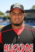 June 16, 2009:  Jairo Martinez of the Batavia Muckdogs poses for a head shot before the teams practice at Dwyer Stadium in Batavia, NY.  The Batavia Muckdogs are the NY-Penn League Single-A affiliate of the St. Louis Cardinals.  Photo by:  Mike Janes/Four Seam Images