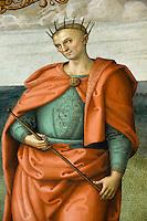 Italien, Umbrien, Fresken von Perugino im Collegio del Cambio in Perugia