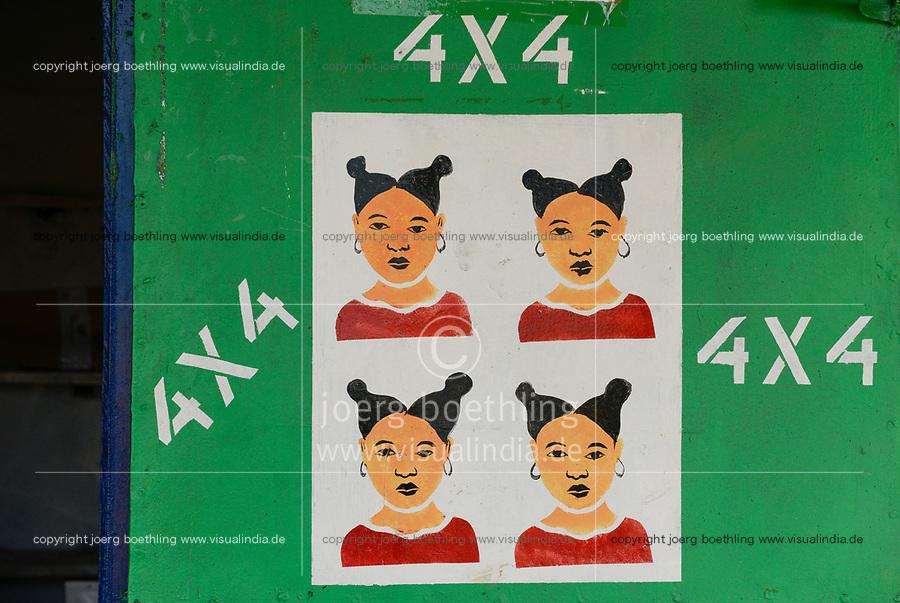 CHAD, Guéra, Mongo, photo studio, passport photo / TSCHAD , Guéra, Mongo, Fotostudio