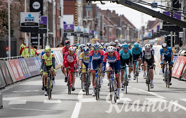 Niki Terpstra (NED/Total - Direct Energie) & Adrien Petit (FRA/Total Direct Energie) crossing the finish line<br /> <br /> 83rd Gent-Wevelgem - in Flanders Fields (ME - 1.UWT)<br /> 1 day race from Ieper to Wevelgem (BEL): 254km<br /> <br /> ©kramon