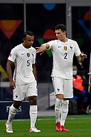 Jules Kounde and Benjamin Pavard of France talking during the Uefa Nations League final match between Spain and France at San Siro stadium in Milano (Italy), October 10th, 2021. Photo Andrea Staccioli / Insidefoto