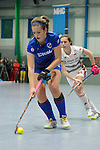 GER - Mannheim, Germany, January 28: During the playoff women hockey match between Mannheimer HC (blue) and Rot-Weiss Koeln (white) on January 28, 2017 at Irma-Roechling Halle in Mannheim, Germany. Final score 5-4 SO (HT 3-3, 2-0). (Photo by Dirk Markgraf / www.265-images.com) *** Local caption ***