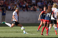 Houston, TX - Sunday Oct. 09, 2016: Abby Erceg during the National Women's Soccer League (NWSL) Championship match between the Washington Spirit and the Western New York Flash at BBVA Compass Stadium. The Western New York Flash win 3-2 on penalty kicks after playing to a 2-2 tie.
