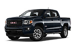 Stock pictures of low aggressive front three quarter view of a 2019 GMC Canyon Allterrain 4 Door Pick Up