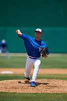 Dunedin Blue Jays starting pitcher Graham Spraker (18) during a Florida State League game against the Jupiter Hammerheads on May 16, 2019 at Jack Russell Memorial Stadium in Clearwater, Florida.  Dunedin defeated Jupiter 1-0.  (Mike Janes/Four Seam Images)
