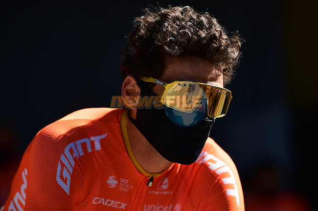 Olympic Champion Greg Van Avermaet (BEL) CCC Team at sign on before the start of Stage 7 of Tour de France 2020, running 168km from Millau to Lavaur, France. 4th September 2020.<br /> Picture: ASO/Alex Broadway | Cyclefile<br /> All photos usage must carry mandatory copyright credit (© Cyclefile | ASO/Alex Broadway)