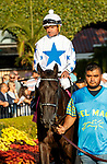 DEL MAR, CA  AUGUST 7:  #8 Princess Grace, ridden by Kent Desormeaux,<br /> In the paddock before the Yellow Ribbon Handicap (Grade ll), on August 7, 2021, at Del Mar Thoroughbred Club in Del Mar, CA. (Photo by Casey Phillips/Eclipse Sportswire/CSM)