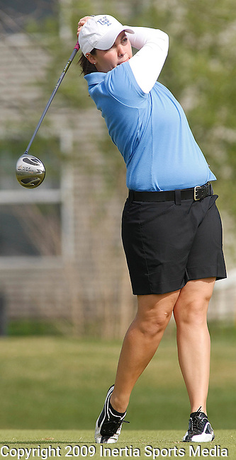 SIOUX FALLS, SD - MAY 4, 2009 :  Rachael Schmidt of Upper Iowa tees off on the 9th hole at Westward Ho Monday during the 2009 NCAA Division II Super Regional Three Women's Golf Championships. (Photo by Dick Carlson/Inertia)