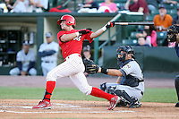 June 20th 2008:  Infielder Jose Garcia of the Batavia Muckdogs, Class-A affiliate of the St. Louis Cardinals, during a game at Frontier Field in Rochester, NY - home of the Rochester Red Wings.  Photo by:  Mike Janes/Four Seam Images
