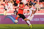 Kim Minjae of South Korea (L) fights for the ball with Ali Jaafar Madan of Bahrain (R) during the AFC Asian Cup UAE 2019 Round of 16 match between South Korea (KOR) and Bahrain (BHR) at Rashid Stadium on 22 January 2019 in Dubai, United Arab Emirates. Photo by Marcio Rodrigo Machado / Power Sport Images