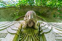 Grabskulptur, Historischer Friedhof Südwestkirchhof Stahnsdorf, Potsdam-Mittelmark, Brandenburg, Deutschland