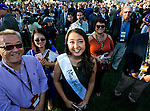 ARCADIA, CA - NOVEMBER 05: Miss Temple City, Stephanie Shih during day two of the 2016 Breeders' Cup World Championships at Santa Anita Park on November 5, 2016 in Arcadia, California. (Photo by Doug Engle/Eclipse Sportswire/Breeders Cup)