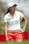 CHON BURI, THAILAND - FEBRUARY 18:  In Kyung Kim of South Korea looks at her shot on the 3rd tee during day two of the LPGA Thailand at Siam Country Club on February 18, 2011 in Chon Buri, Thailand. Photo by Victor Fraile / The Power of Sport Images