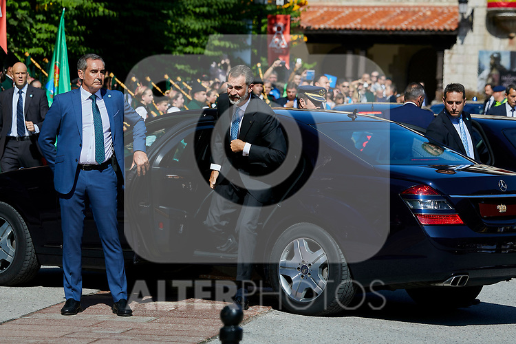 King Felipe VI of Spain visit Covadonga, Spain. September 08, 2018. (ALTERPHOTOS/A. Perez Meca)