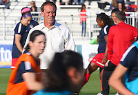Boyds, MD - Saturday May 07, 2016: Washington Spirit coach Jim Cabarra before a regular season National Women's Soccer League (NWSL) match at Maureen Hendricks Field, Maryland SoccerPlex. Washington Spirit tied the Portland Thorns 0-0.