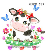 Kayomi, CUTE ANIMALS, LUSTIGE TIERE, ANIMALITOS DIVERTIDOS, paintings+++++,USKH347,#ac#, EVERYDAY ,sticker,stickers ,cow,cows