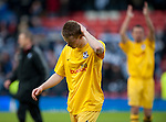 GLASGOW, SCOTLAND - JANUARY 28:   Ayr United's John Robertson dejection at the end of  the Scottish Communities Cup Semi Final match between Ayr United and Kilmarnock at Hampden Park on January 28, 2012 in Glasgow, United Kingdom. (Photo by Rob Casey/Getty Images).