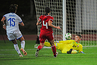 20190301 - LARNACA , CYPRUS : Italian forward Valentina Giacinti scoring the first goal pictured during a women's soccer game between Hungary and Italy , on Friday 1 March 2019 at the GSZ Stadium in Larnaca , Cyprus . This is the second game in group B for both teams during the Cyprus Womens Cup 2019 , a prestigious women soccer tournament as a preparation on the FIFA Women's World Cup 2019 in France . PHOTO SPORTPIX.BE | STIJN AUDOOREN
