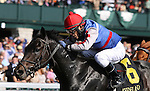 Mellow Fellow and Juan Vargas win the 6th race, Maiden $50,000 for 2 year old colts at Keeneland Racecourse.  October 12, 2012