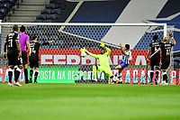 22nd April 2021; Dragao Stadium, Porto, Portugal; Portuguese Championship 2020/2021, FC Porto versus Vitoria de Guimaraes; Mehdi Taremi of FC Porto saves from close in from Bruno Varela of Vitoria de Guimaraes