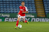 Gethin Jones of Fleetwood Town during the English League Cup Round 2 Group North match between Leicester City and Fleetwood Town at the King Power Stadium, Leicester, England on 28 August 2018. Photo by David Horn.