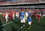 Rangers captain Lee McCulloch leads out his team at the TD Place, Ottawa