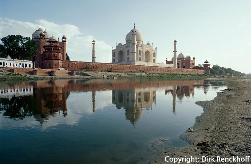 Indien, Agra (Uttar Pradesh) Taj Mahal.erbaut ab 1631 von Shah Jahan