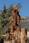 FB-S150  Idyllwild, CA. Idyllwild Town Monument.