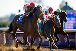November 6, 2020: Rockertry, ridden by Irad Ortiz, Jr., wins the Thoroughbred Aftercare Alliance Stakes on Breeders' Cup Championship Friday at Keeneland on November 6, 2020: in Lexington, Kentucky. Carolyn Simancik/Eclipse Sportswire/CSM