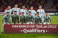 3rd June 2021; Estadio Único de Santiago del Estero, Santiago del Estero, Argentina; World Cup football qualification, Argentina versus Chile;  Players of Argentina pose for official team photo