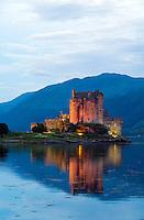 Eileen Donan Castle, Western Dornie, Highlands, Scotland.