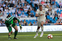Real Madrid's Mariano Diaz and Villarreal CF's Andres Fdez. during La Liga match between Real Madrid and Villarreal CF at Santiago Bernabeu Stadium in Madrid, Spain. May 05, 2019. (ALTERPHOTOS/A. Perez Meca)<br /> Liga Campionato Spagna 2018/2019<br /> Foto Alterphotos / Insidefoto <br /> ITALY ONLY